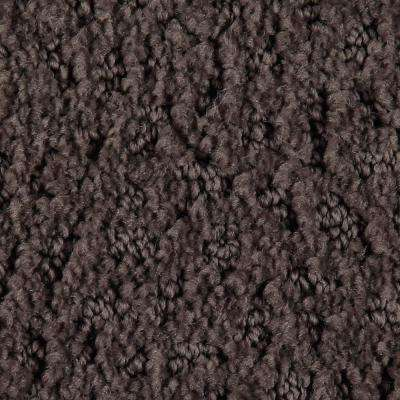 Carpet Sample - Hopeful Wishes - Color Saddle Brown Pattern 8 in. x 8 in.