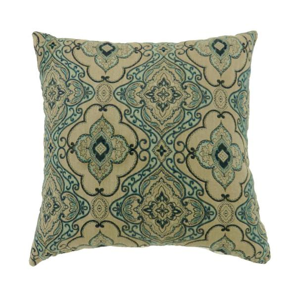 Lea 22 in. Contemporary Throw Pillow in Multicolor (Pack of 2 ...