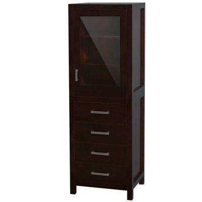 Sheffield 24 in. W x 71-1/4 in. H x 20 in. D Bathroom Linen Storage Tower Cabinet in Espresso