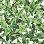 RoomMates 28.18 sq. ft. Green/White Tropical Leaf Peel and Stick Wallpaper