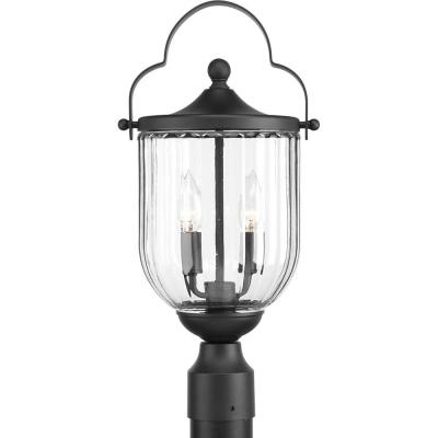 McPherson Collection 2-Light Outdoor Black Post Lamp