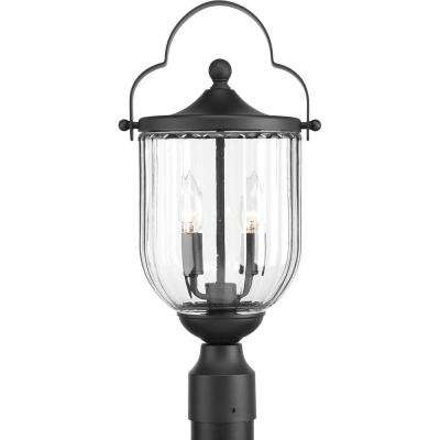 McPherson Collection 3-Light Outdoor Black Post Lamp