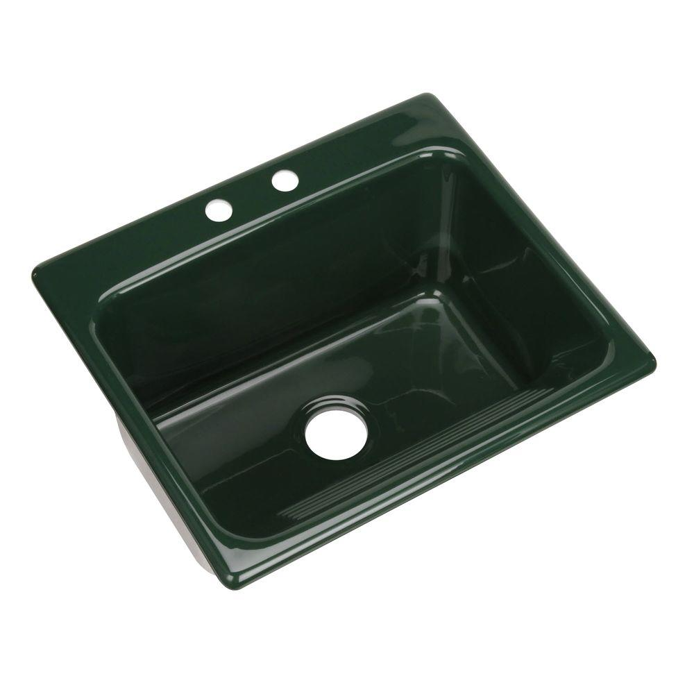 Kensington Drop-In Acrylic 25 in. 2-Hole Single Bowl Utility Sink in