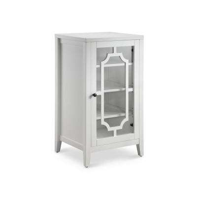 Fina 8-Bottle Accent/Wine Cabinet in White