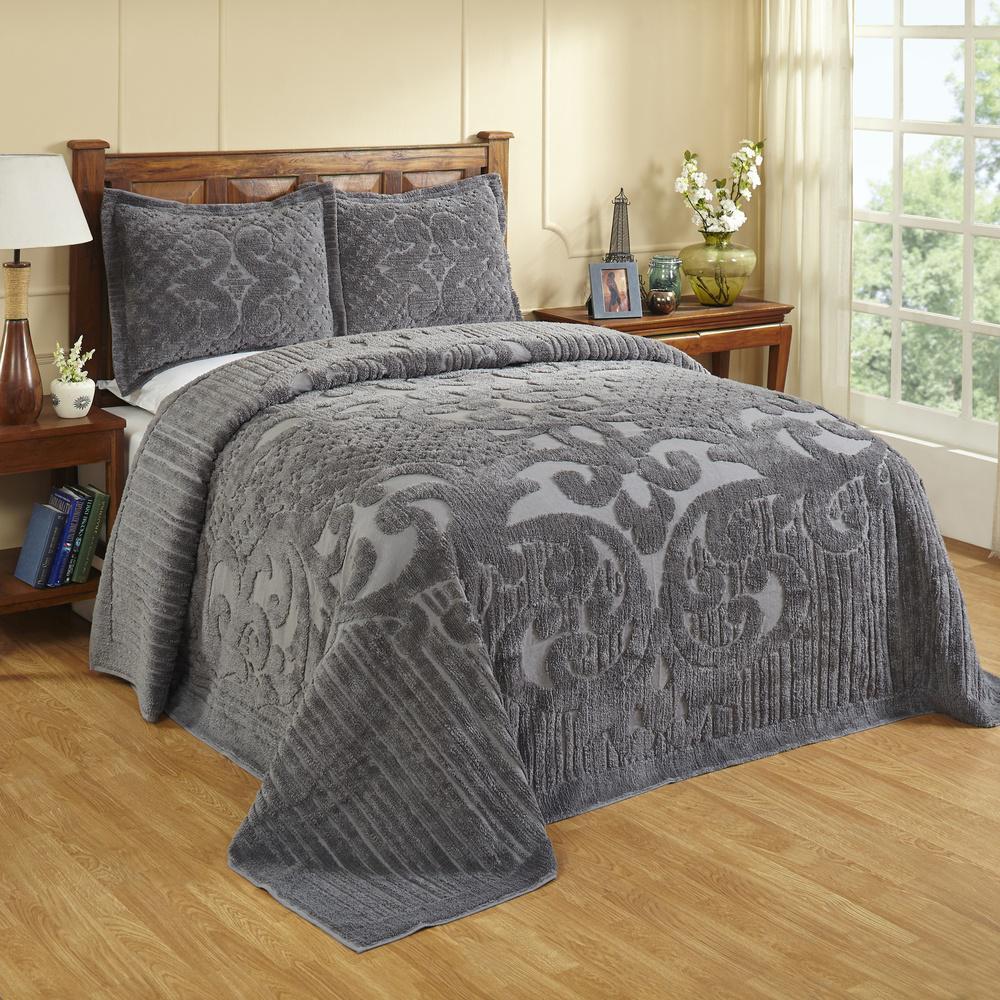 Ashton 1-Piece Grey Queen Bedspread