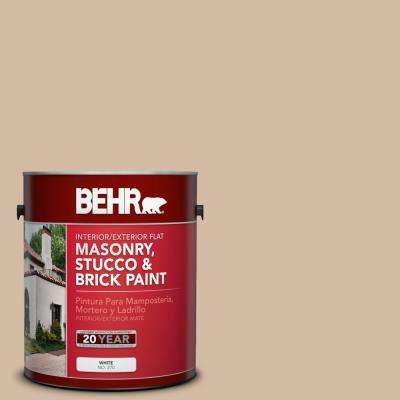 1 gal. #290E-3 Classic Taupe Flat Interior/Exterior Masonry, Stucco and Brick Paint