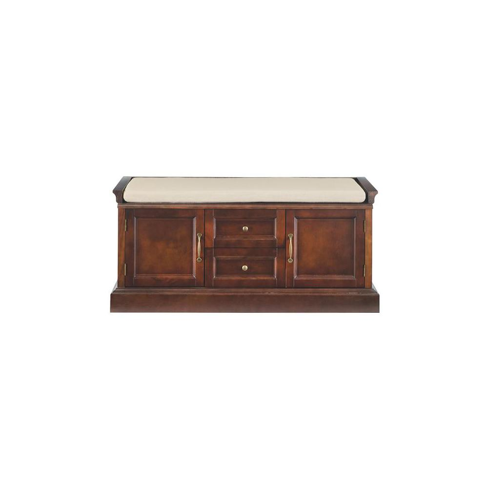 Royce Storage Smokey Brown Bench