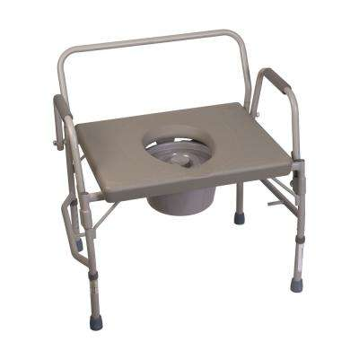 Extra-Wide Heavy-Duty Drop-Arm Commode in Steel