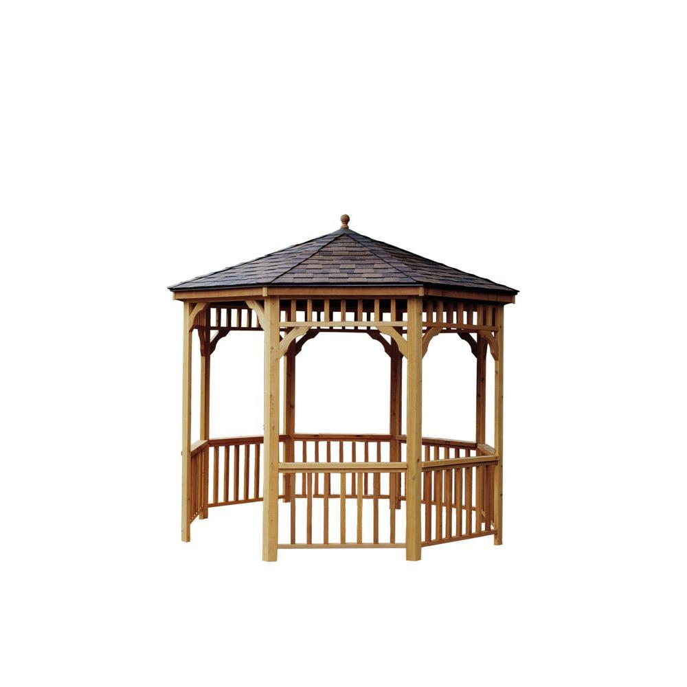 Handy Home Products 10 ft. San Marino Round Gazebo-19944-8 - The ...