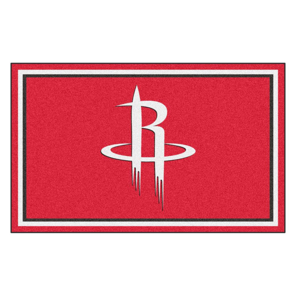 Nuggets X Rockets: Houston Rockets Red 4 Ft. X 6 Ft. Area Rug