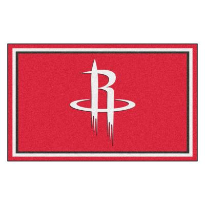 NBA - Houston Rockets Red 4 ft. x 6 ft. Area Rug