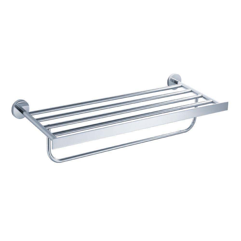 KRAUS Imperium Bathroom Towel Rack with Towel Bar in Chrome-KEA ...