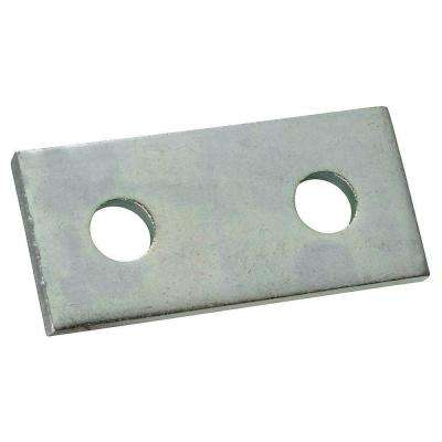 2-Hole Flat Straight Strut Bracket - Silver Galvanized (Case of 10)