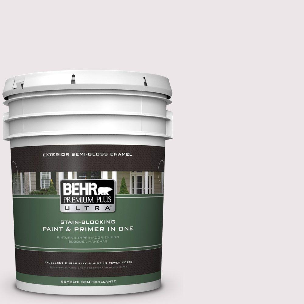 BEHR Premium Plus Ultra 5-gal. #W-B-620 Frosty Morning Semi-Gloss Enamel Exterior Paint