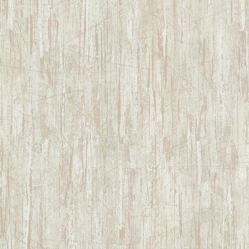 Catskill Light Brown Distressed Wood Wallpaper Sample