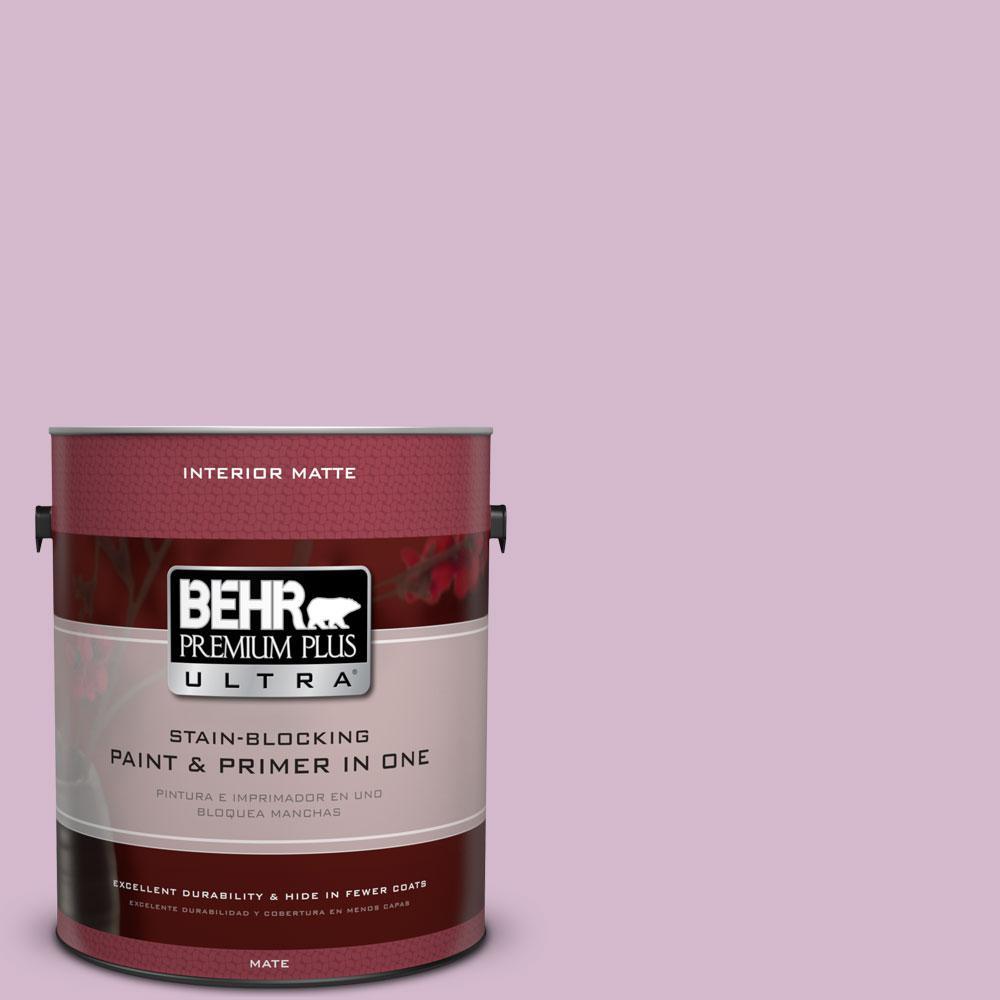 BEHR Premium Plus Ultra 1 gal. #680D-4 Velvet Slipper Flat/Matte Interior Paint