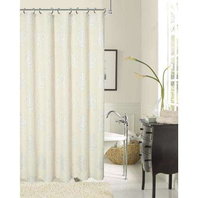 Rose 70 in. Natural Shower Curtain