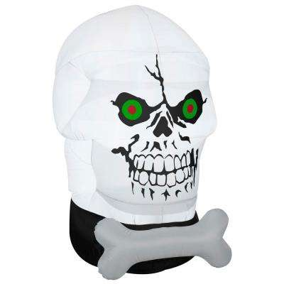 58.27 in. W x 39.37 in. D x 66.14 in. H Inflatable Gotham Skull