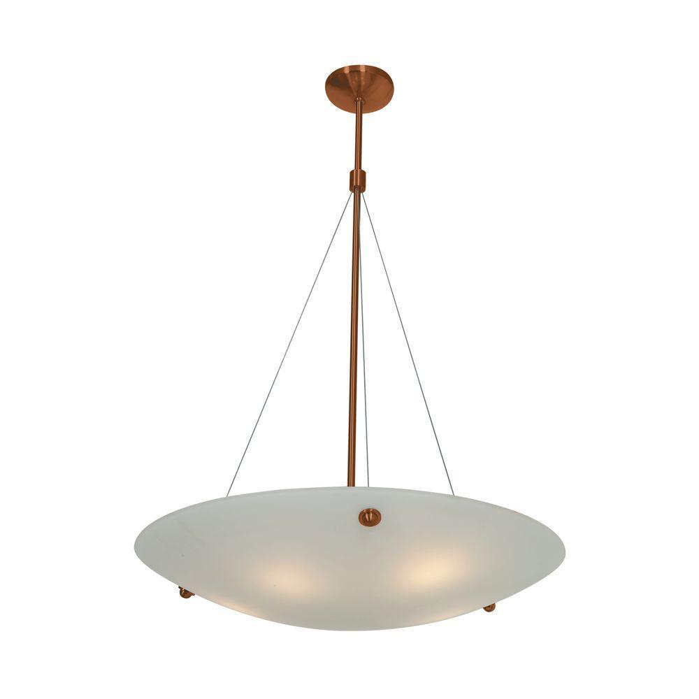 Noya 5-Light Bronze Pendant with WhiteGlass Shade