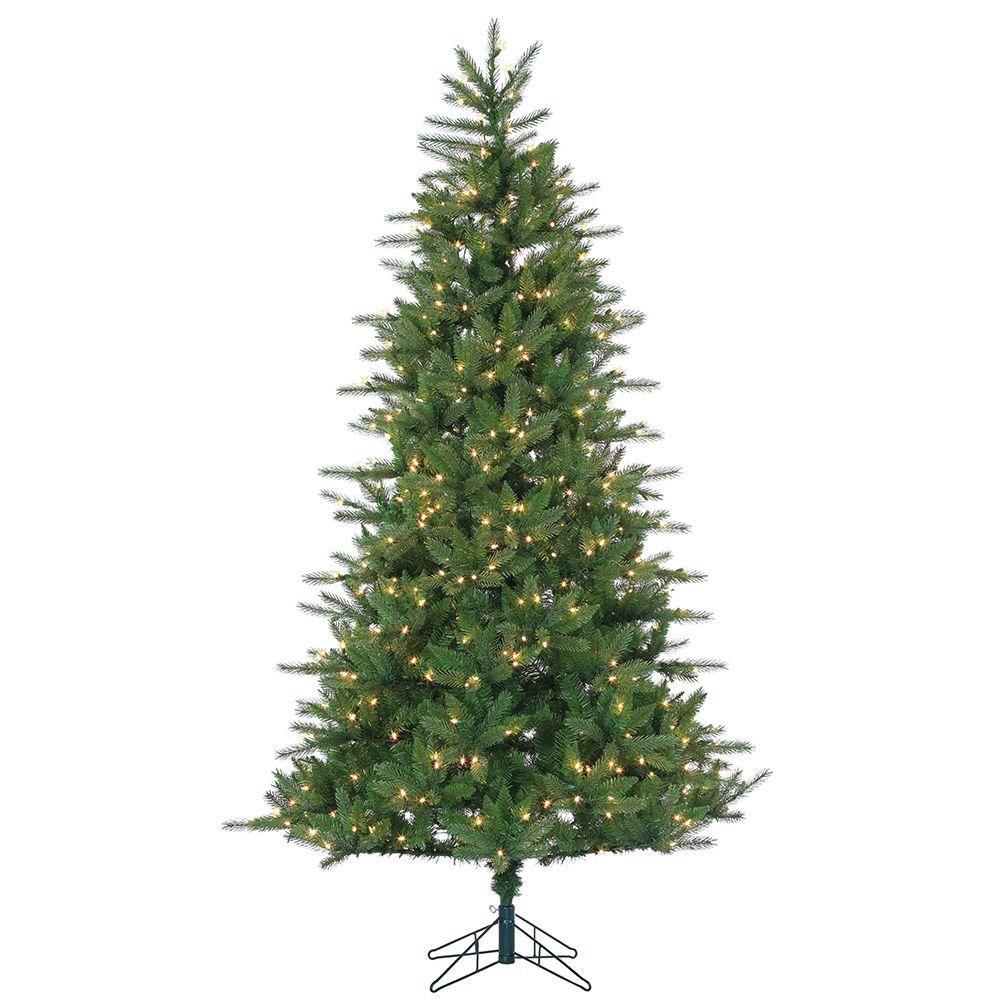 Clear Lights 5 Feet Martha Stewart Natural Pine Pre-Lit Artificial Christmas Tree