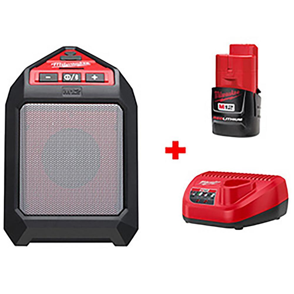 M12 12-Volt Lithium-Ion Cordless Bluetooth Wireless Jobsite Speaker Kit W/ (1)