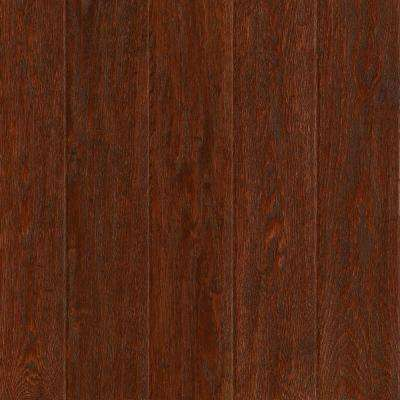 Take Home Sample - American Vintage Black Cherry Oak Solid Scraped Hardwood Flooring - 5 in. x 7 in.