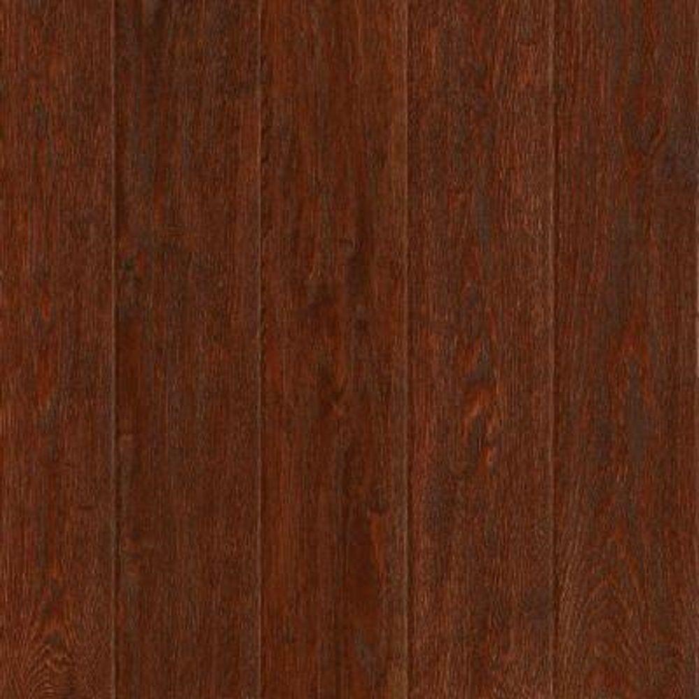 Take Home Sample - American Vintage Black Cherry Oak Solid Scraped Hardwood Flooring - 5 in. x 7 in.