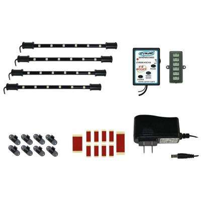9 in. Multicolor 4-LED Accent Light System Under Cabinet Light