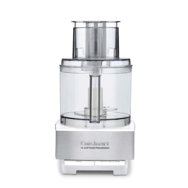 Cuisinart Custom 14-Cup 2-Speed Brushed White Stainless Steel Food Processor