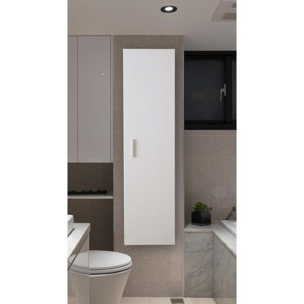 Basicwise Modern Long Bathroom Wall Mounted Cabinet In White Qi003551 W The Home Depot