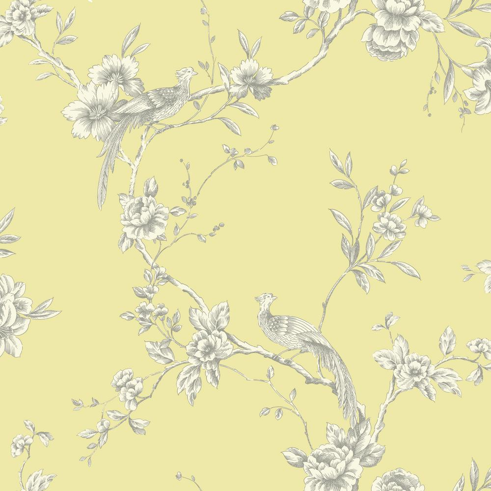 Arthouse Chinoise Yellow Wallpaper 422804 The Home Depot