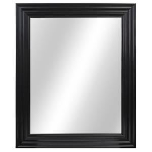 L Framed Fog Free Wall Mirror In Black · Home Decorators ...