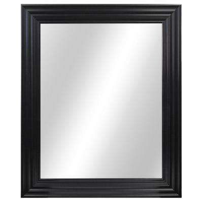 29 in. W x 34 in. L Framed Fog Free Wall Mirror in Black