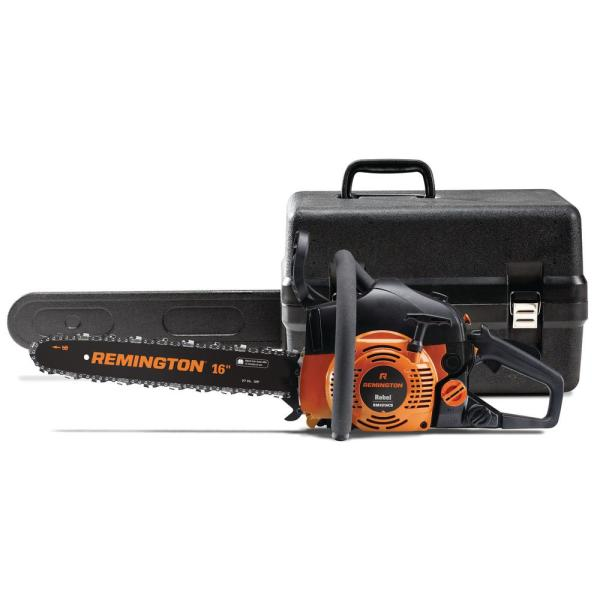 Remington Rebel 16 In 42 Cc 2 Cycle Gas Chainsaw With Automatic Chain Oiler And Heavy Duty Carry Case Included Rm4216cs Rebel The Home Depot