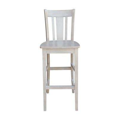 San Remo 30 In. H Weathered Gray Barstool