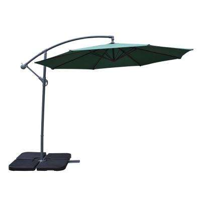 10 ft. Cantilever Patio Umbrella in Green