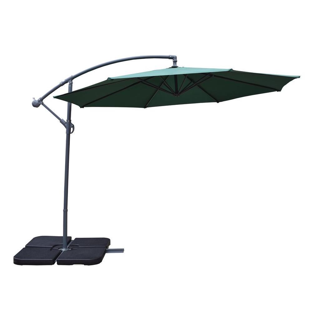 Cantilever Patio Umbrella In Green