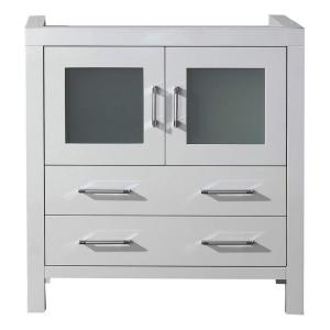 Virtu USA Dior 32 inch Vanity Cabinet Only in White by Virtu USA