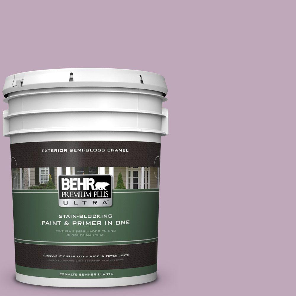 5-gal. #680F-4 Soft Heather Semi-Gloss Enamel Exterior Paint