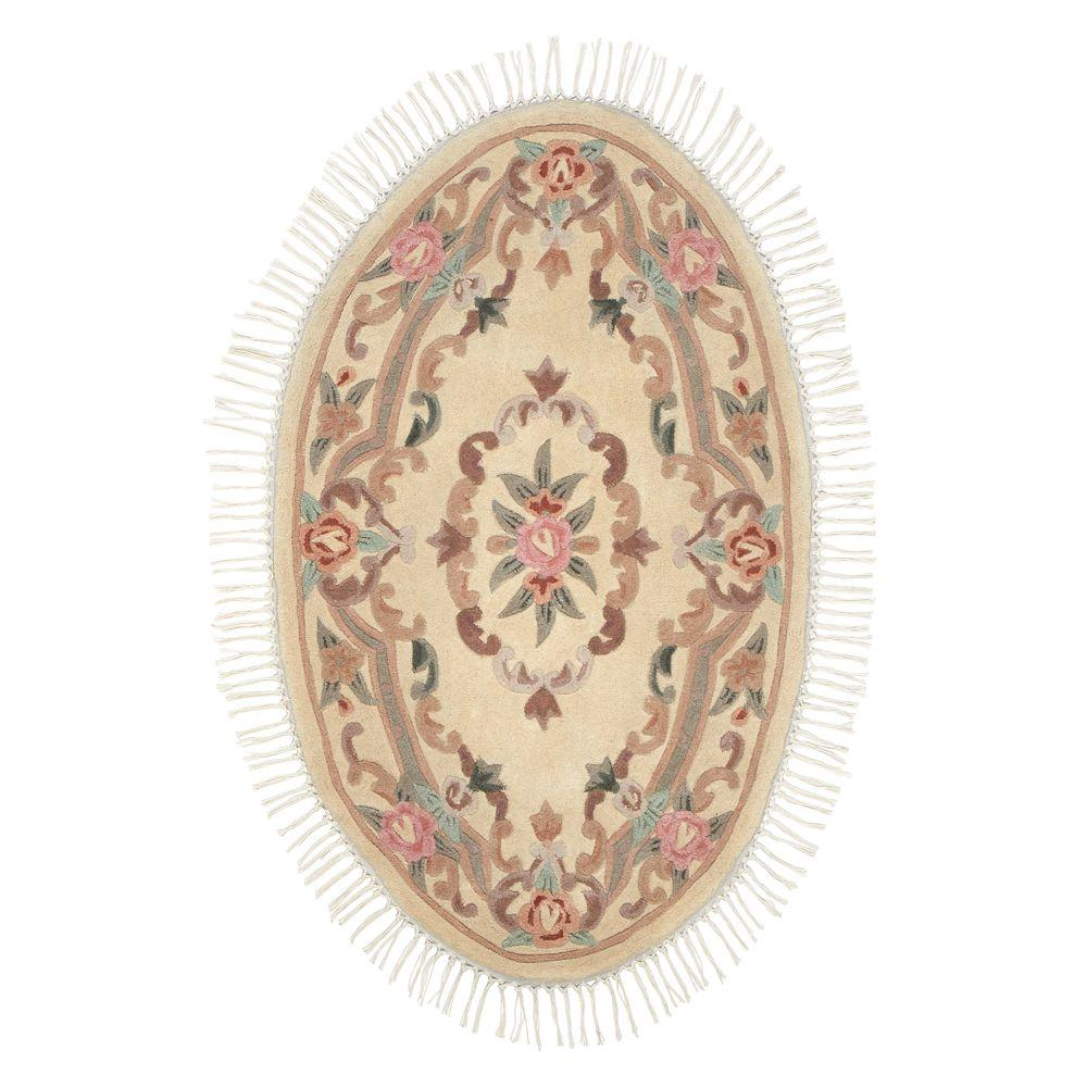 Home Decorators Collection Imperial Ivory 3 ft. x 5 ft. Oval Area Rug