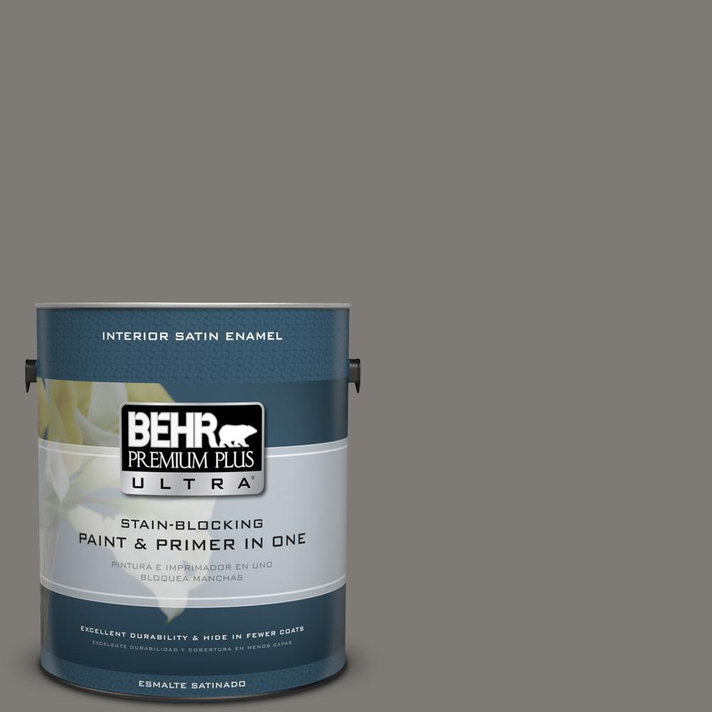 1 gal. #PPU24-21 Greyhound Satin Enamel Interior Paint