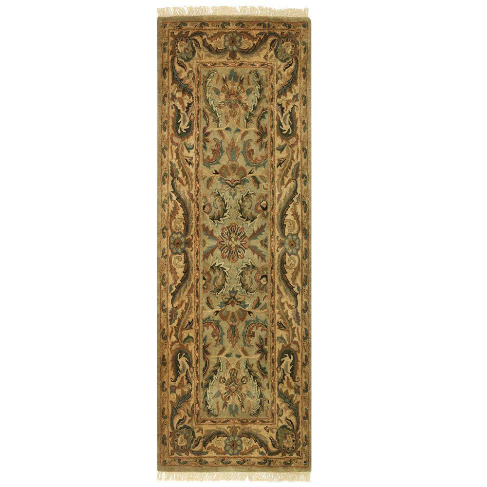 Home Decorators Collection Chantilly Antique Green 2 ft. 9 in. x 14 ft. Runner