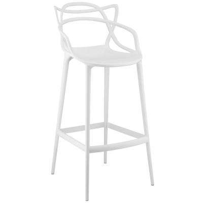 Entangled 30.5 in. White Bar Stool