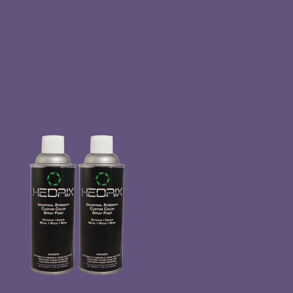 Hedrix 11 oz. Match of MQ5-48 Boudoir Blue Flat Custom Spray Paint (2-Pack)