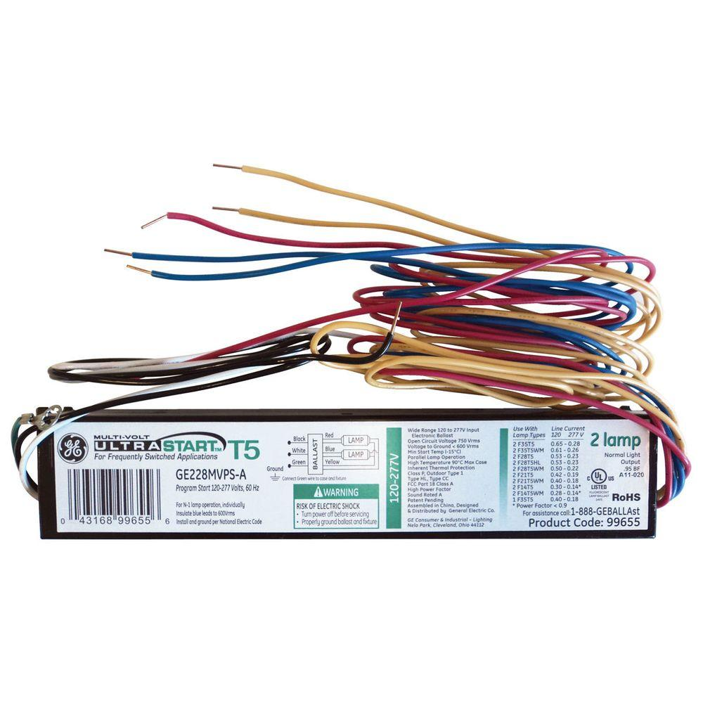 120 to 277-Volt High Efficiency Electronic UltraStart Ballast for 2 or