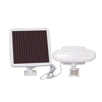 Solar White Motion Activated Outdoor Integrated LED Landscape Flood Light