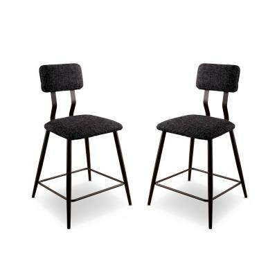Locust Sand Black and Black Counter Height Chairs (Set of 2)