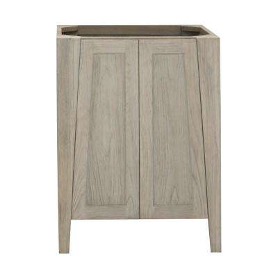 Significado 24 in. W Teak Vanity Bath Cabinet Only in Driftwood