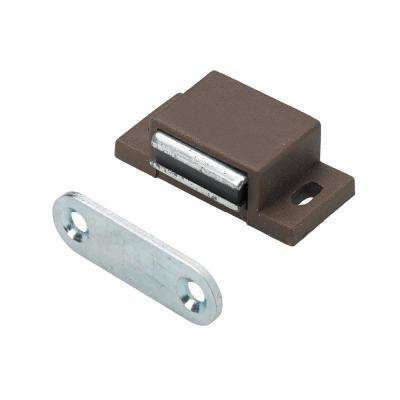 Magnetic Catch 11 lbs. with Counterplate in Brown (1-Pack)