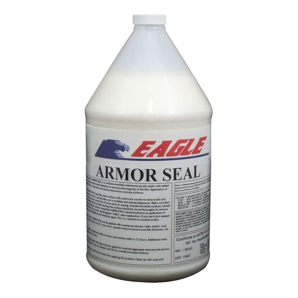 Eagle 1 Gal. Armor Seal Urethane Modified Acrylic Glossy Durable Water-Based Low Odor Clear Concrete Sealer